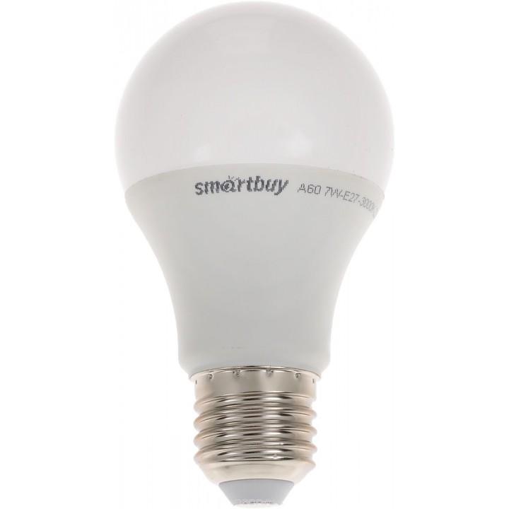 Светодиодная энергосберегающая лампа Smartbuy 7 Вт (60Вт) 3000К Теплый свет
