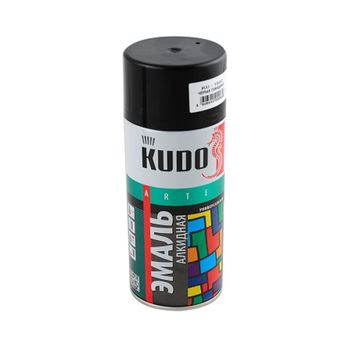 Аэрозольная эмаль KUDO Черная глянцевая 520мл