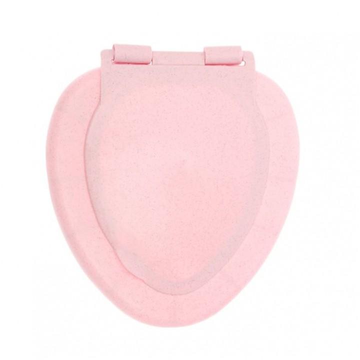"""Сиденье для унитаза розовый мрамор """"Virplast"""""""