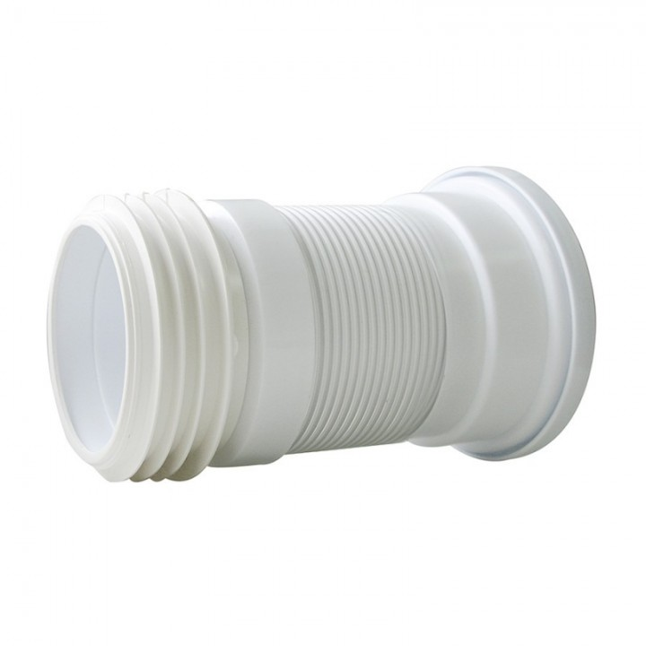 Слив для унитаза гофр. армированный укороч. 200-350 мм