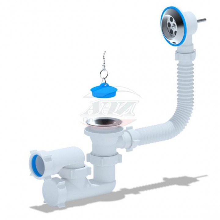 """Сифон 1 1/2""""х40 для ванны с вып. и перелив., регулир.(Е 250) """"Анипласт"""""""