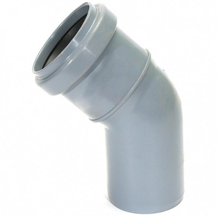 Отвод канализационный 50мм х 45°