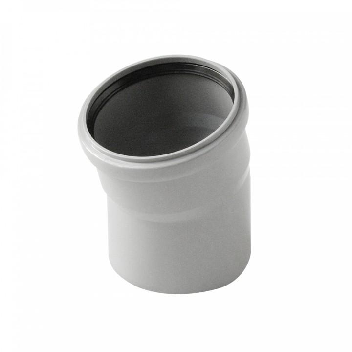 Отвод канализационный 110мм х 15°