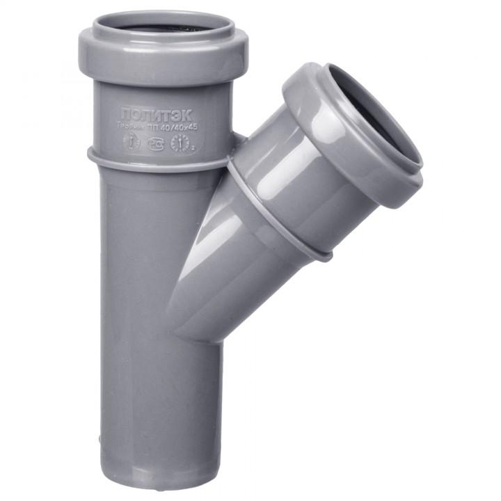 Тройник канализационный 40 х 40 х 45°