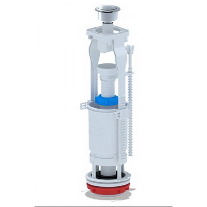 Стойка спускная для бачка (кнопка хром) Анипласт (WC7030М)