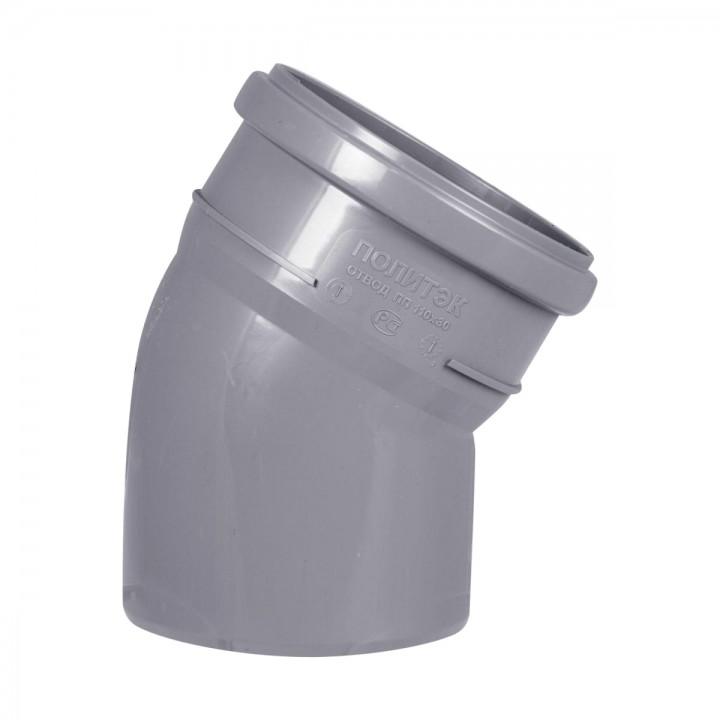 Отвод канализационный 110мм х 30°