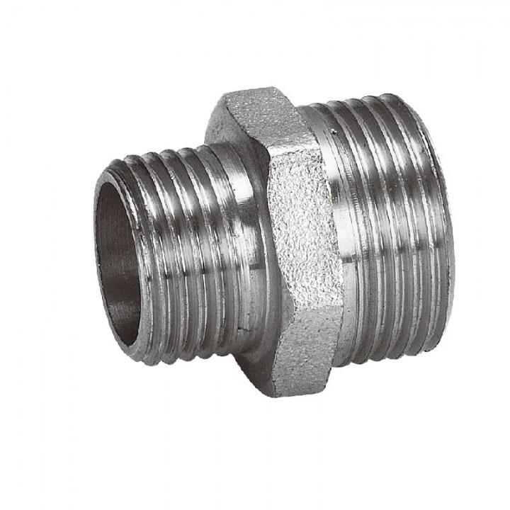 Переходник (ниппель) 1 ш х 1/2 ш никель
