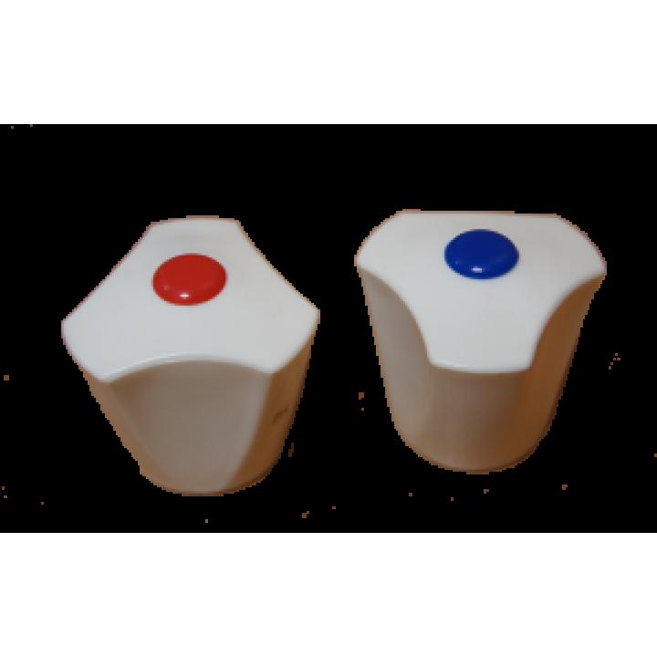 Маховик пластмас. белый под квадрат (1 штука)