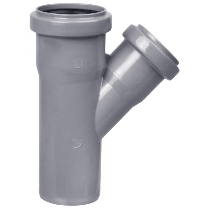 Тройник канализационный 50 х 40 х 45°