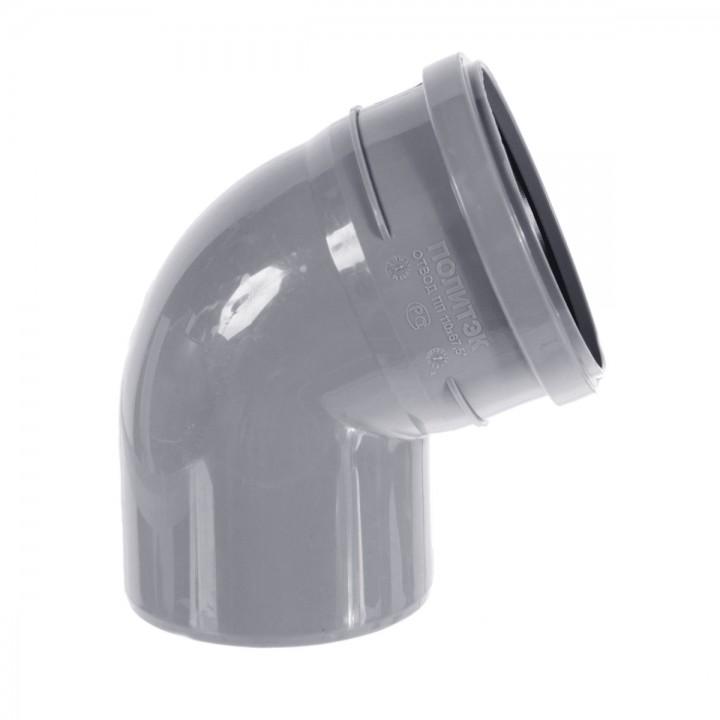 Отвод канализационный 110мм х 67°