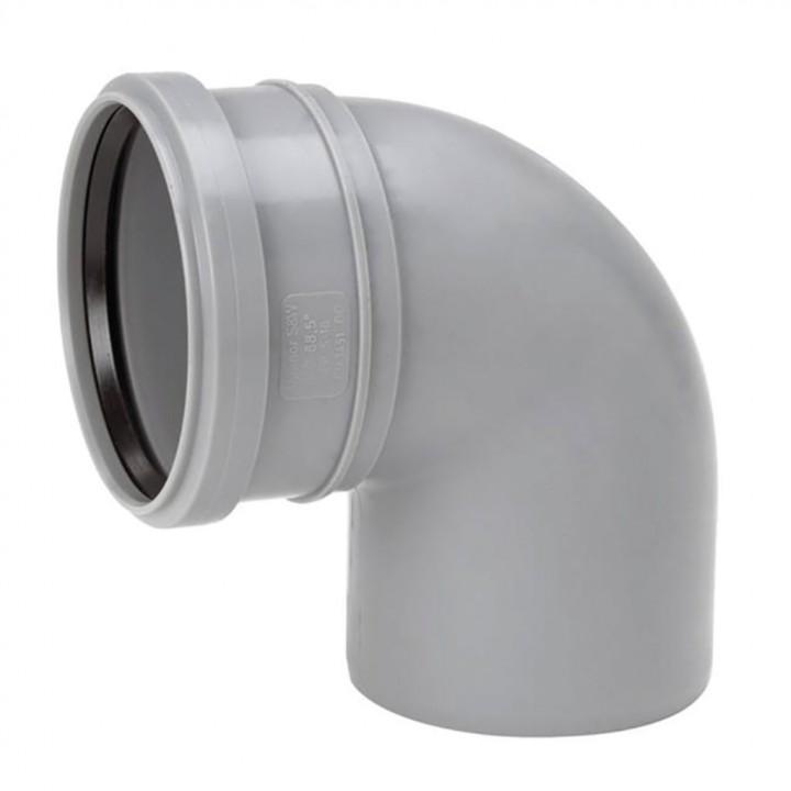 Отвод канализационный 110мм х 90°